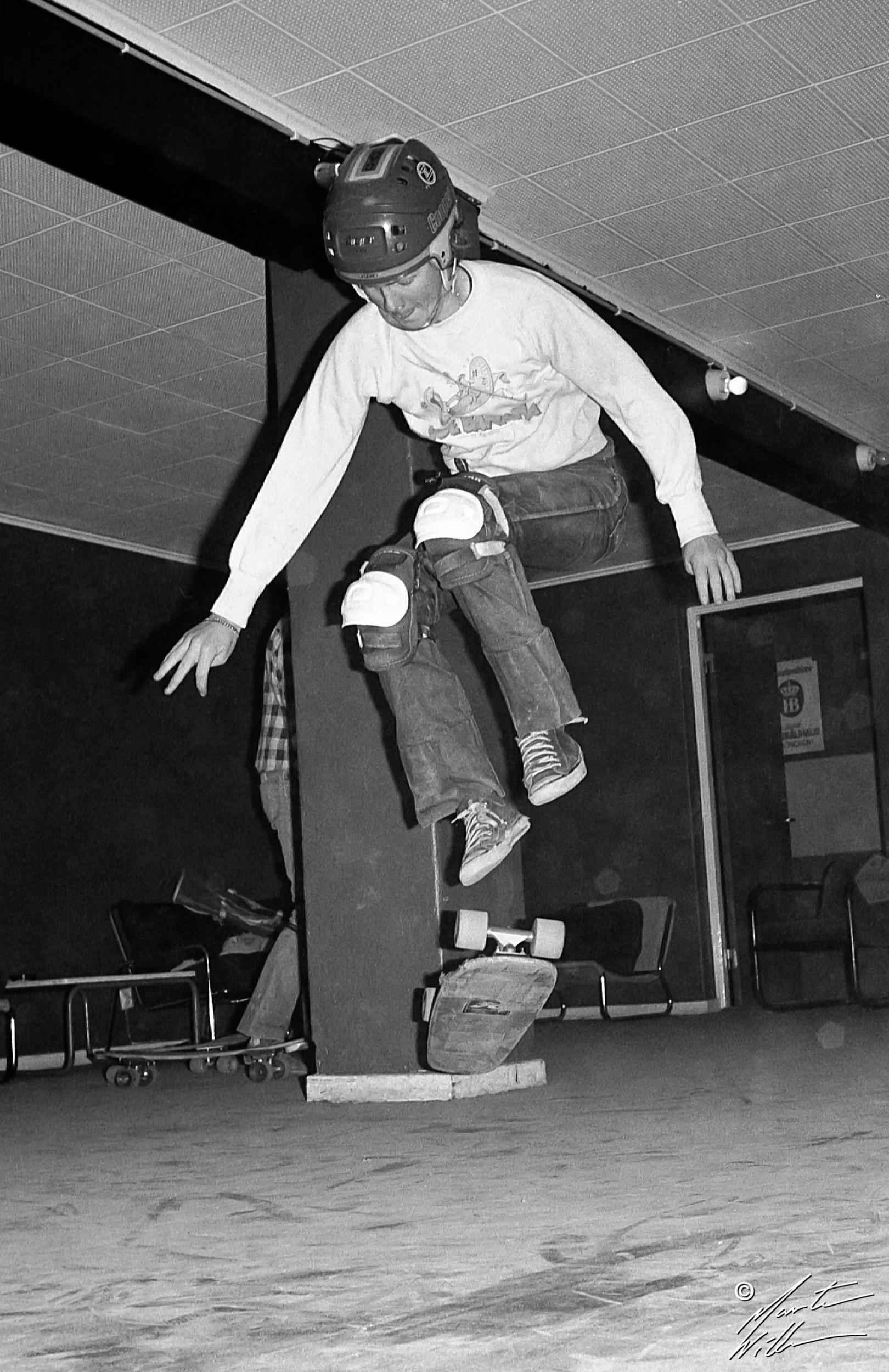 Martin Willners, 180 kickflip,  Jönköping, 1978