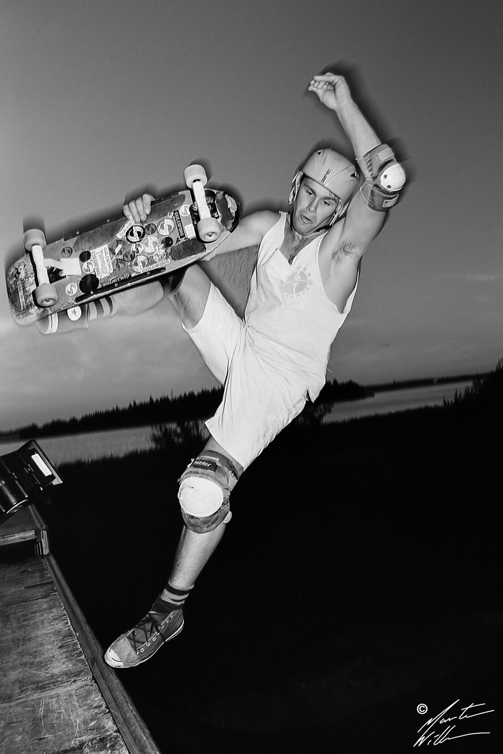 Hans Göthberg, Frontside boneless, Swedish Summer Camp, Täby 1985