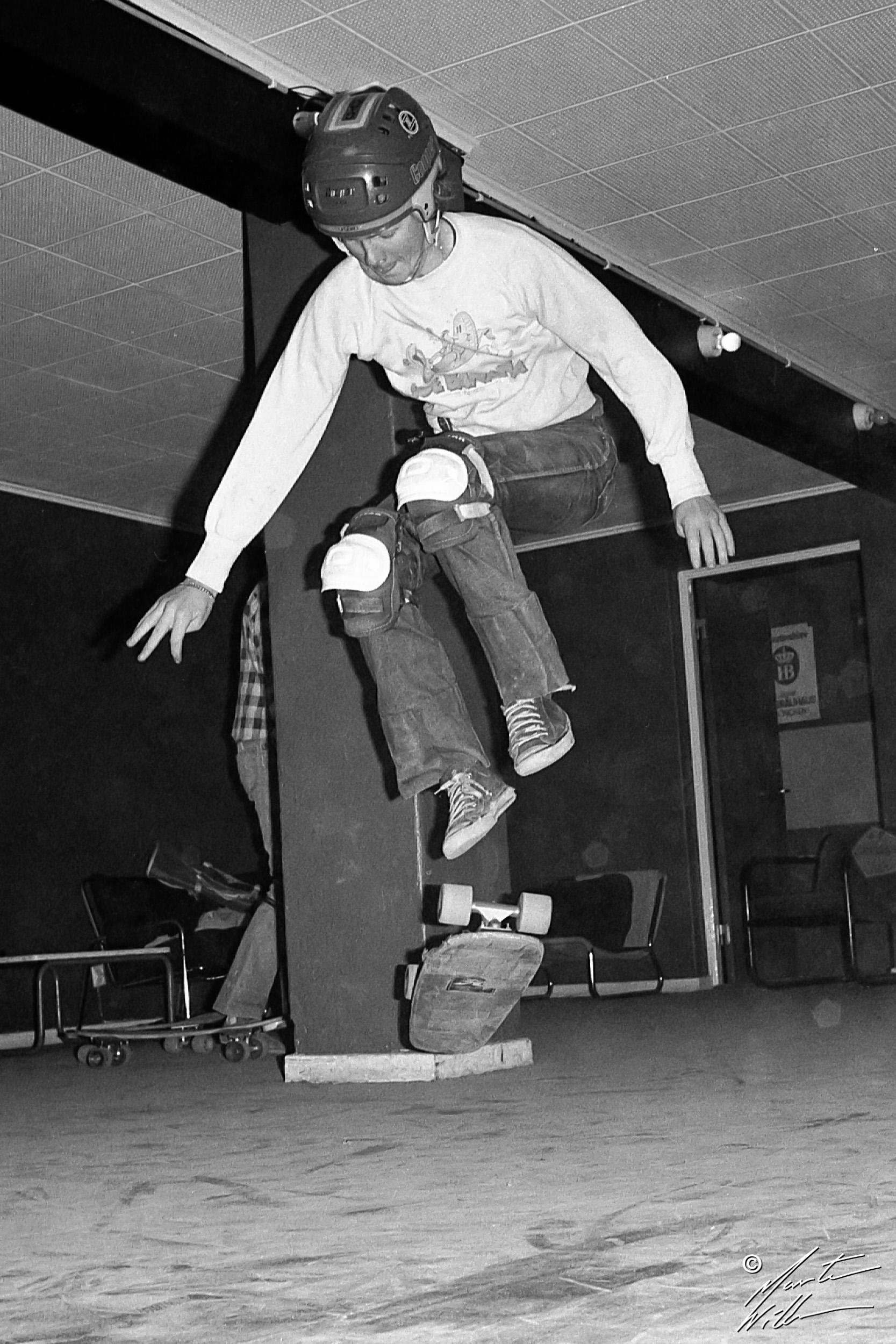 Martin Willners, 180 kickflip, Jönköping 1979
