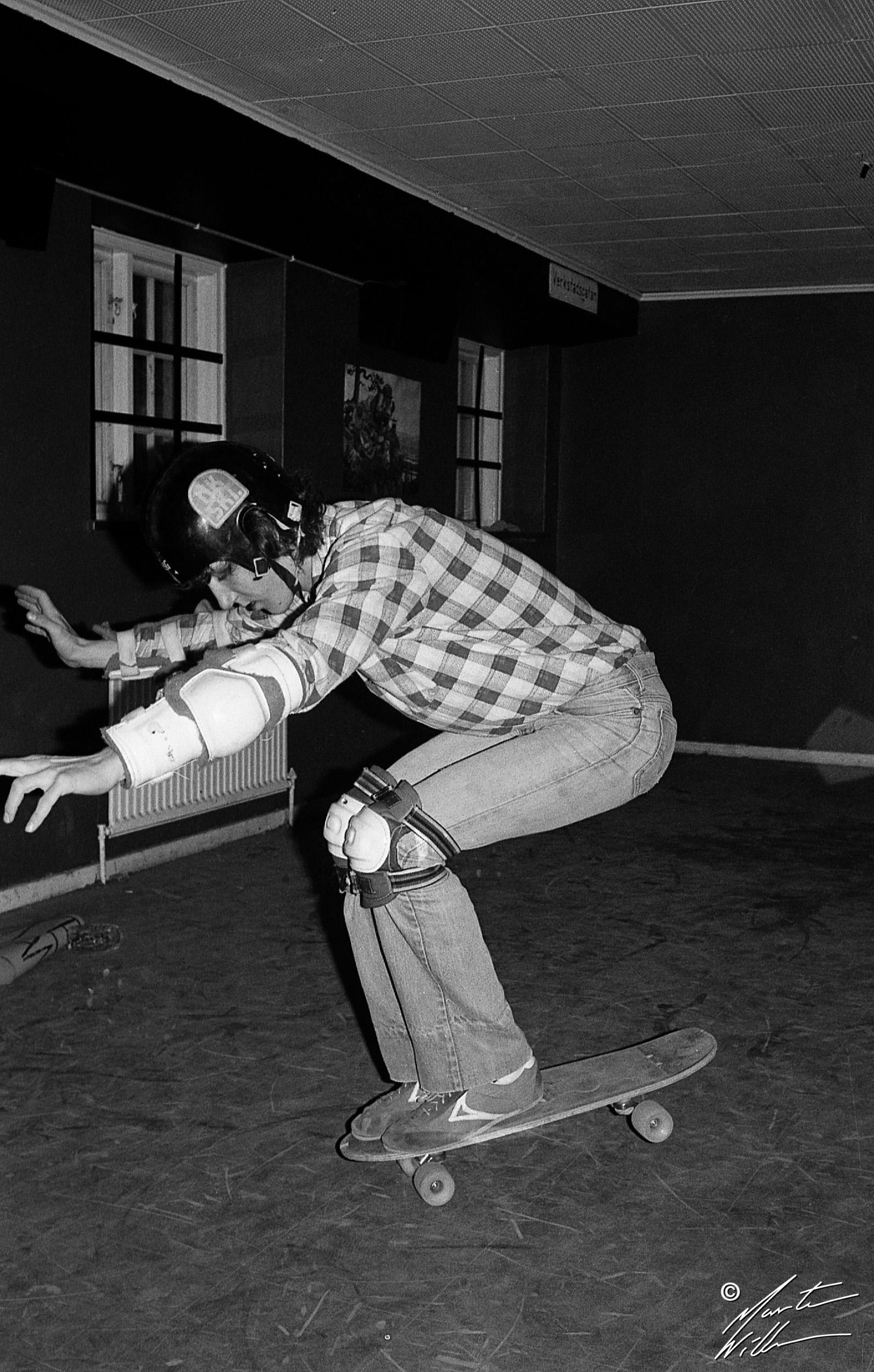 Greger Petersen, Nose wheelie,  Jönköping, 1978
