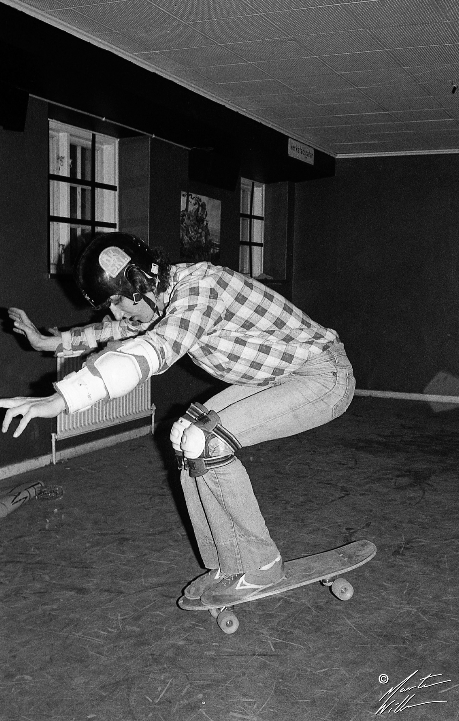 Greger Petersen, Nose wheelie,  Jönköping, 1979