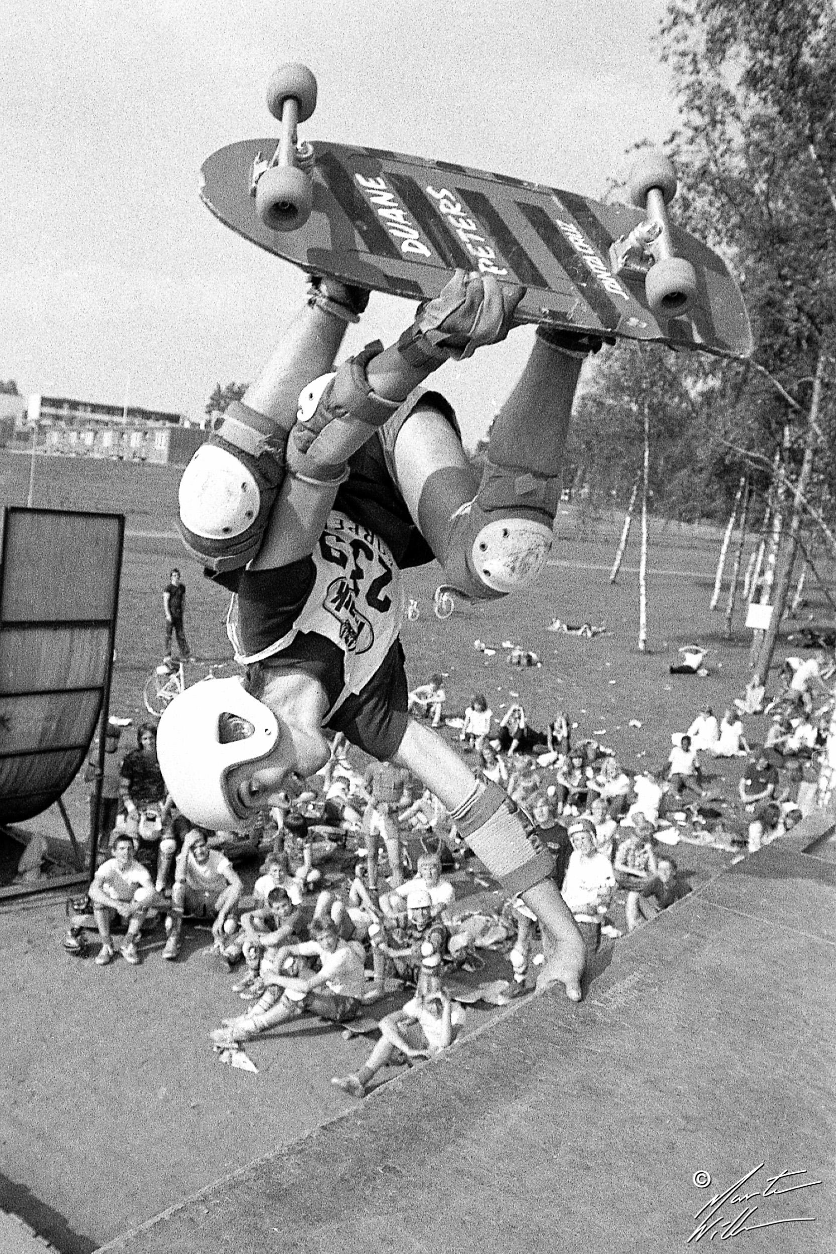Patric Backlund, Handplant, Sverigecupen, Växjö, 1981