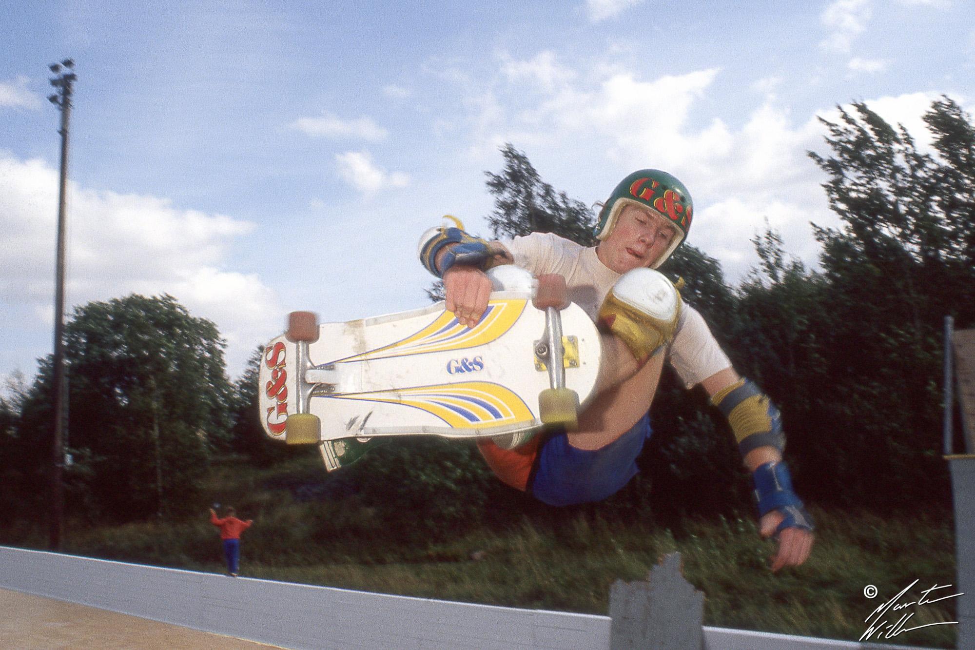 Torbjörn Andersson, Frontside air, Sverigecupen Linköping, 1981