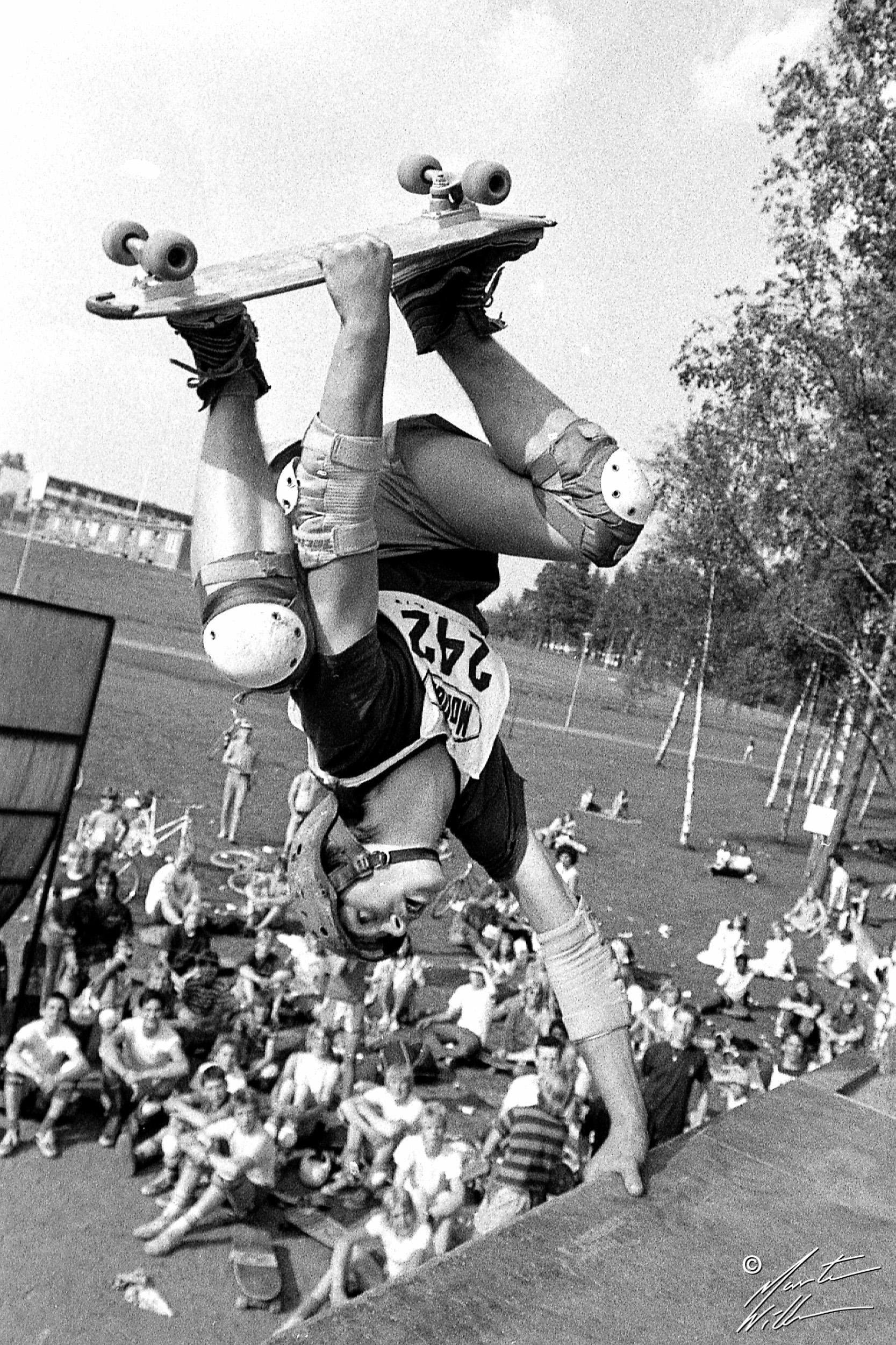 Hans Göthberg, Handplant,  Sverigecupen, Växjö, 1981