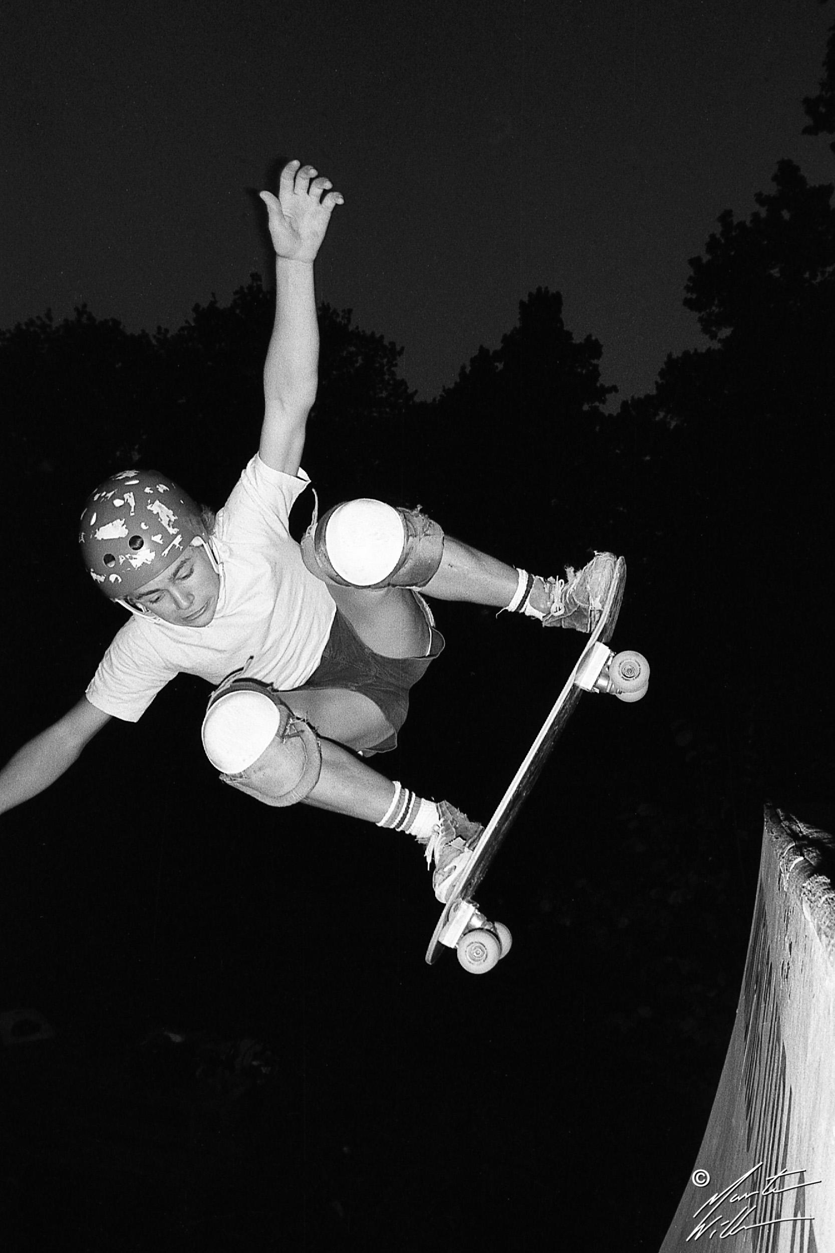 Nicke Hallgren, Fakie ollie,  Huskvarna Folkets park, 1981