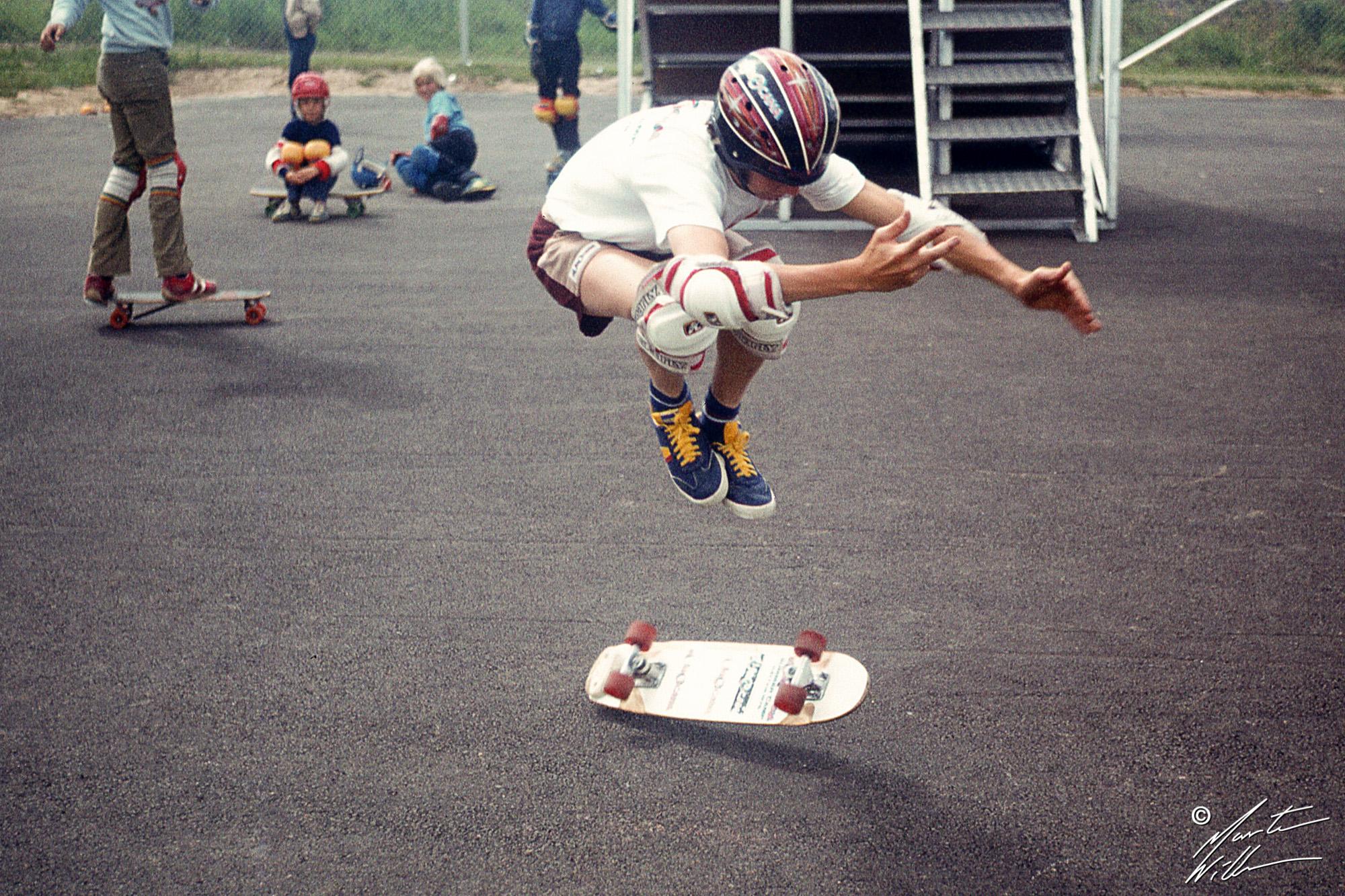 Per Welinder, Dubbel kickflip,  Eurocana Summer Camp 1979
