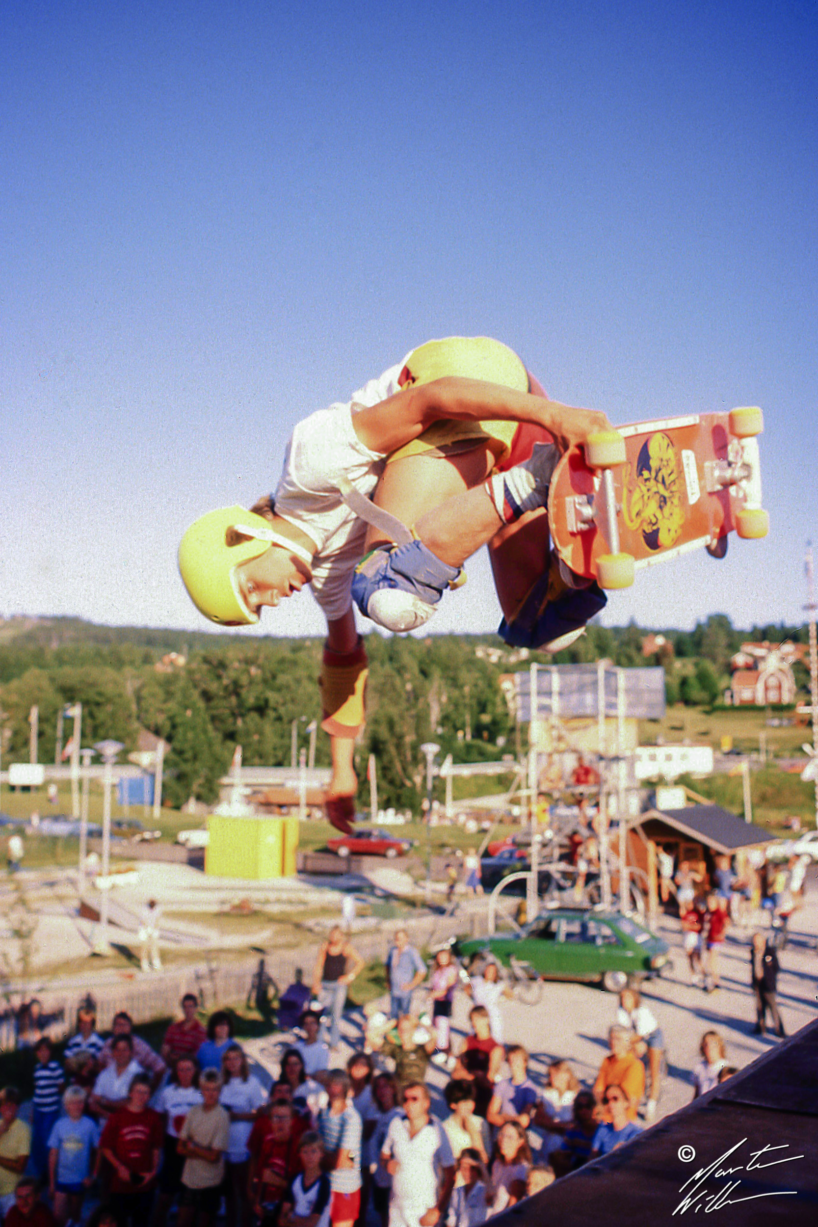 Mats Trane, Backside air,  Eurocana Summer Camp, Rättvik 1981
