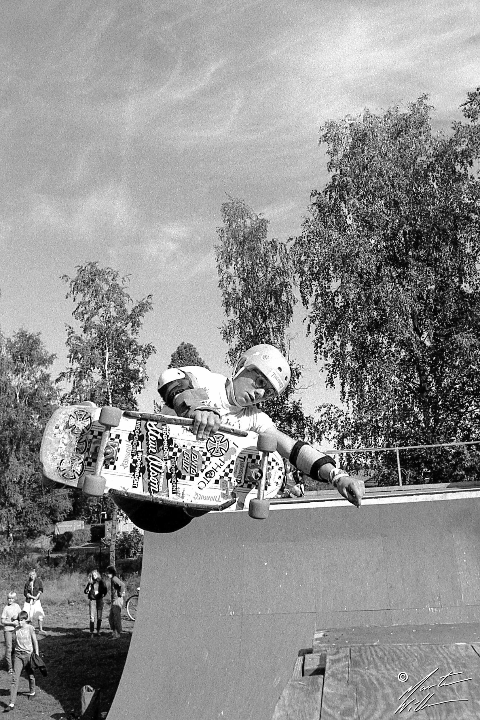 Martin Korpi, Frontside air, Karlskoga, 1984