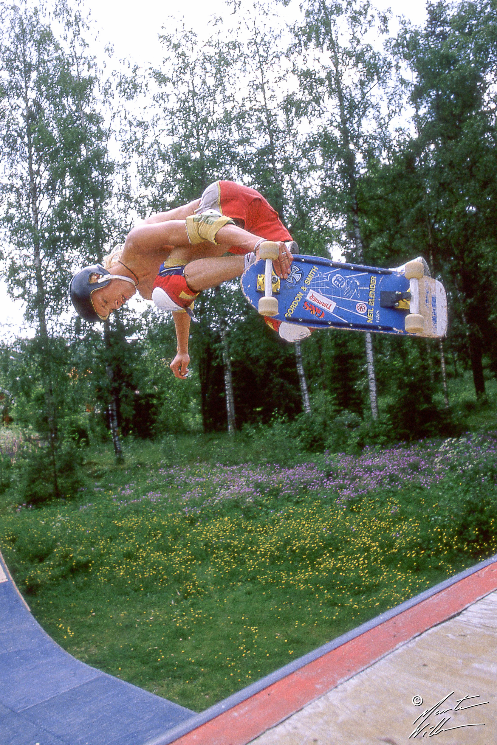Tony Jansson, Backside air, Karlskoga, 1984