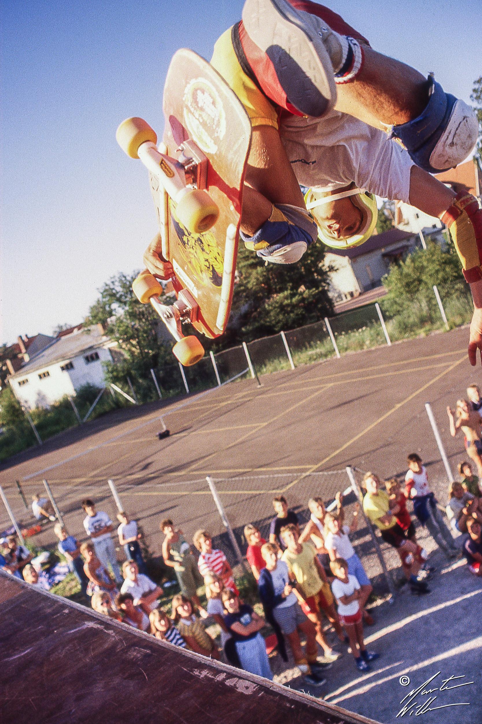 Mats Trane, Backside air,  Eurocana Summer Camp, Rättvik 1981