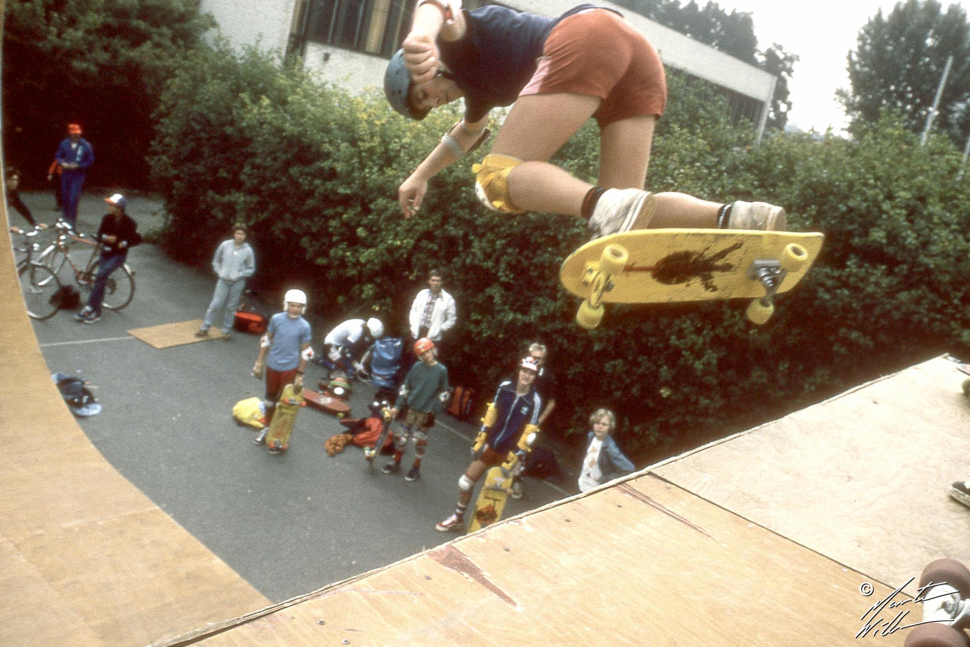 Hans Göthberg, Backside ollie, SM, Täby 1981