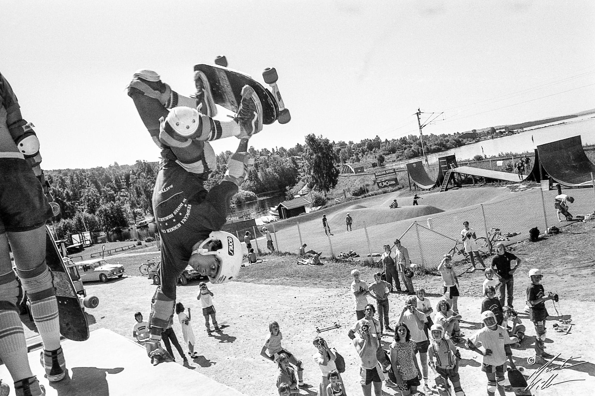 Steve Caballero, Andrecht handplant,  Eurocana Summer Camp, Rättvik 1981