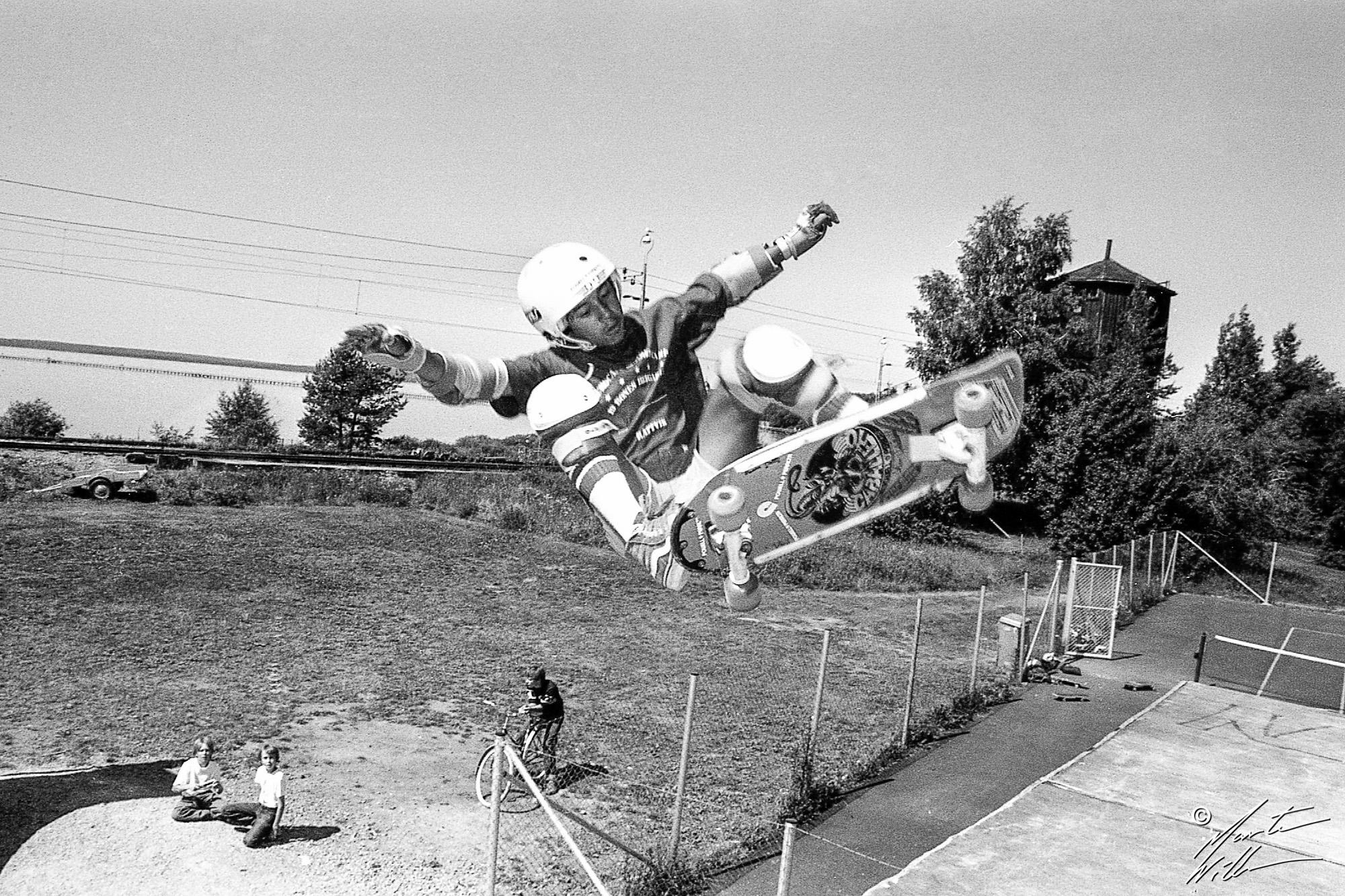 Steve Caballero, Frontside ollie,   Eurocana Summer Camp, Rättvik 1981