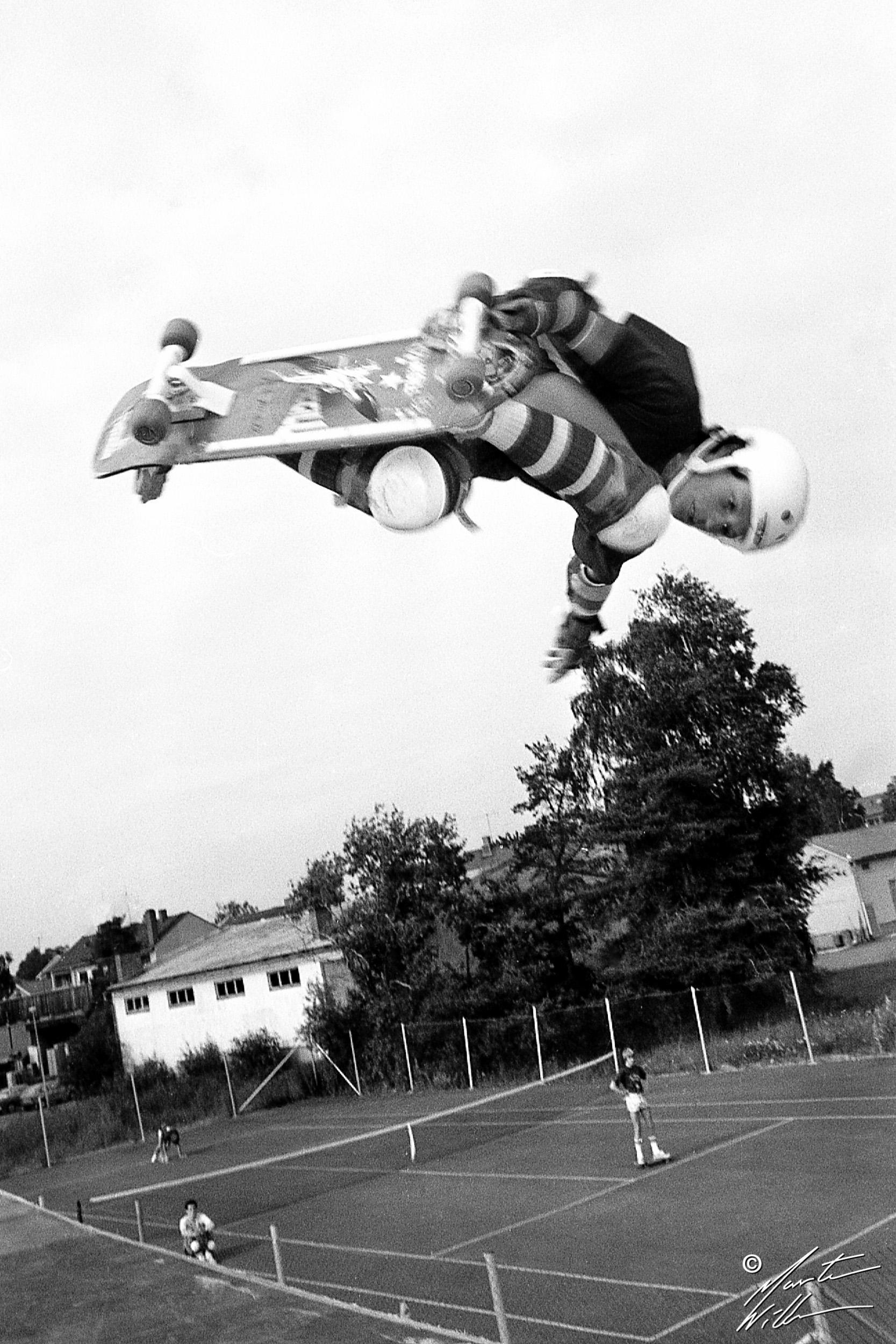 Mike McGill, Backside air,   Eurocana Summer Camp, Rättvik 1981