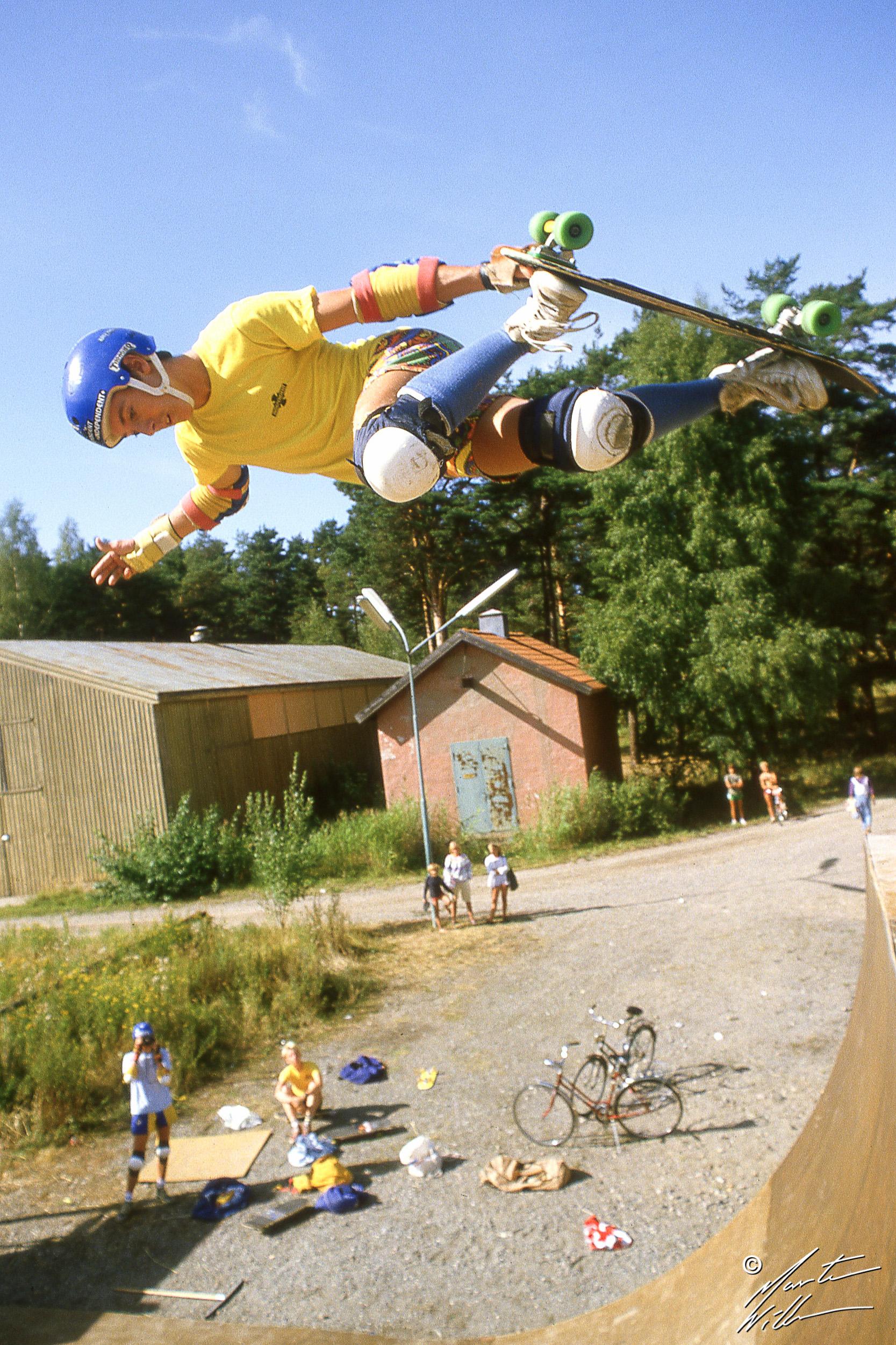 Billy Ruff, Backside air, Summer Camp, Täby  1983