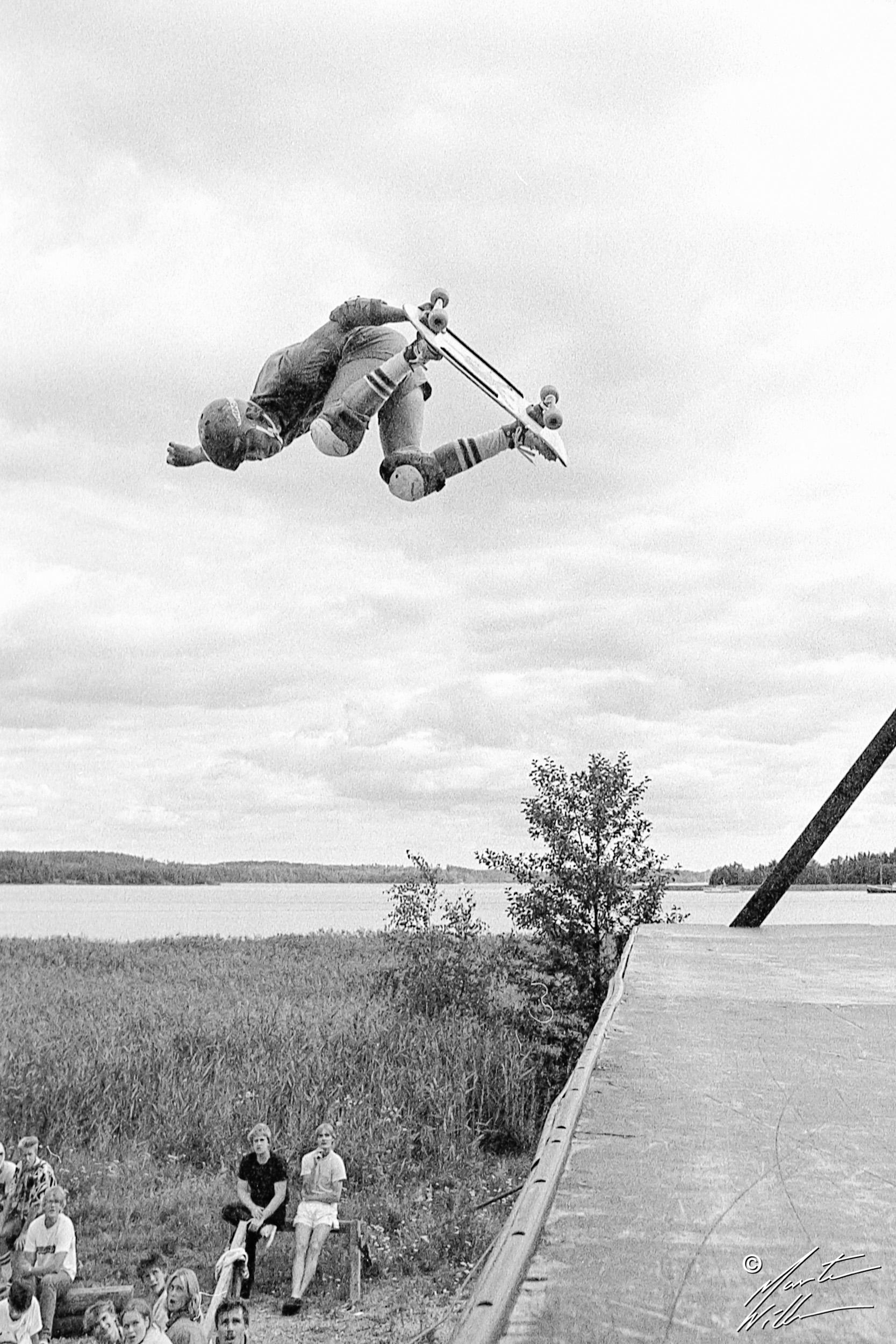 Mikael Adolfsson, Backside air, SM 1984, Täby